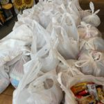 Bags of snacks to be delivered to hospital workers