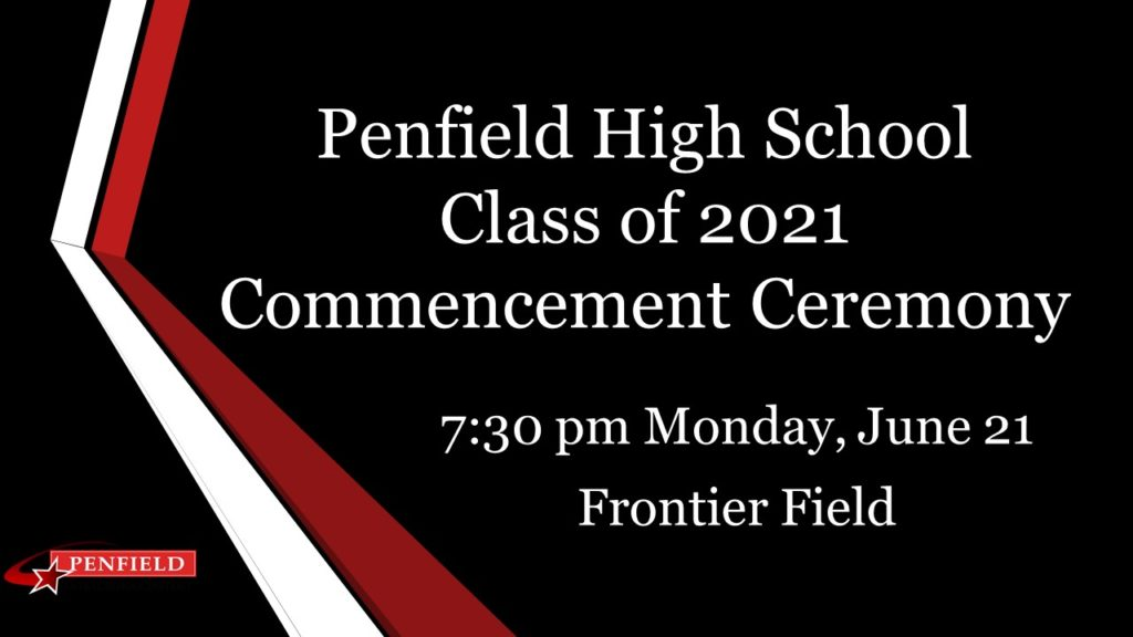 Graphic with PHS Commencement Information for June 21