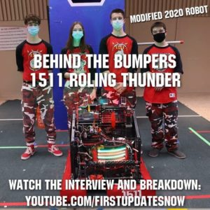 Read more about the article FIRST Updates Now – Behind the Bumpers with Team 1511